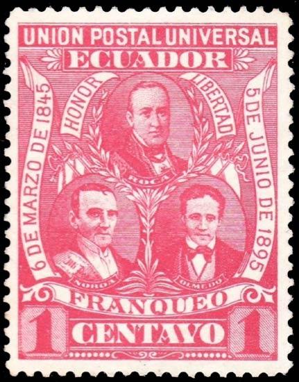 Ecuador_1896_1c_Genuine