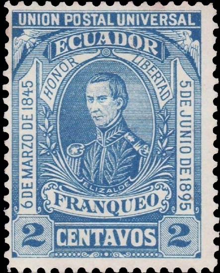 Ecuador_1896_2c_Genuine