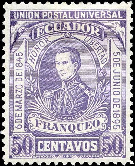 Ecuador_1896_50c_Genuine