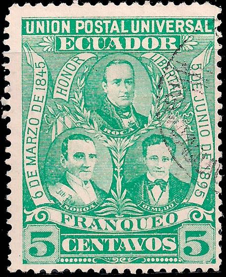 Ecuador_1896_5c_Genuine
