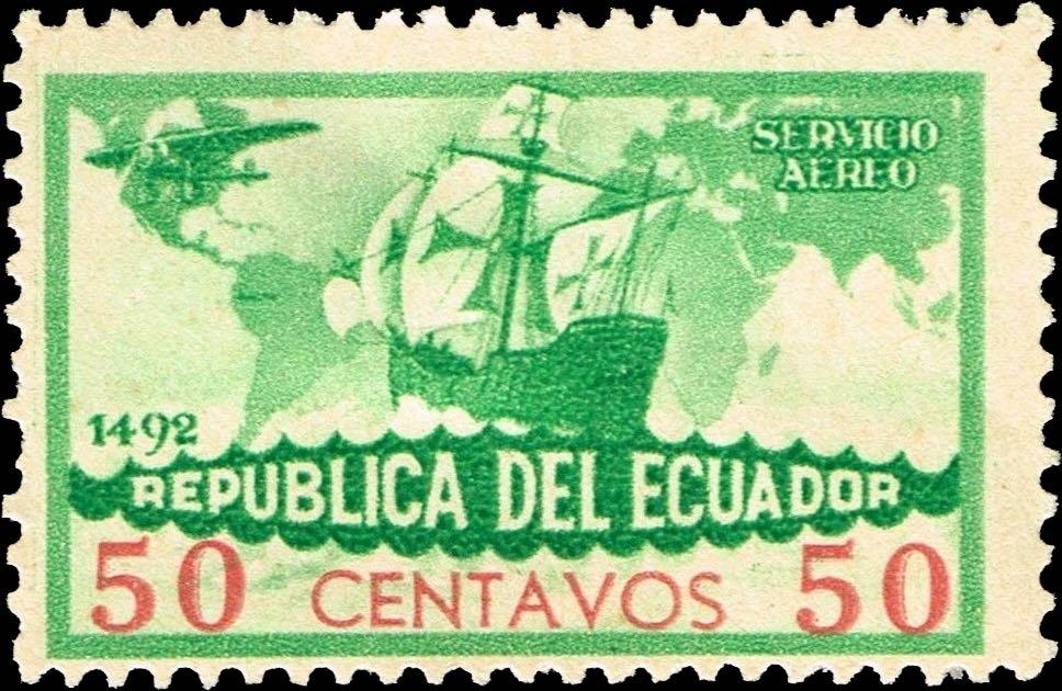 Ecuador_1935_Colombus_50c_Forgery