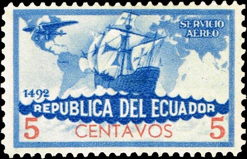 Ecuador_1935_Colombus_5c_Forgery