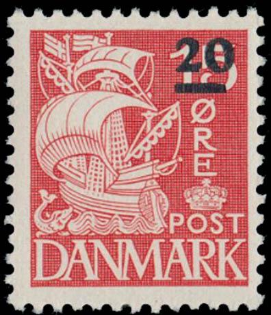 Faroe_Islands_1941_15ore_Surcharge20_Genuine