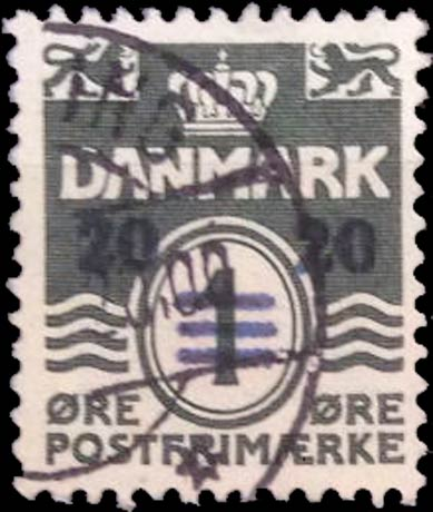 Faroe_Islands_1941_1ore_Surcharge20_Forgery