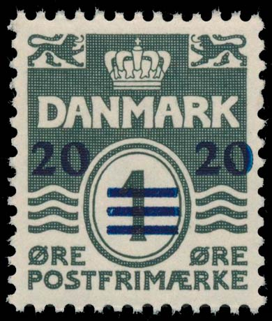 Faroe_Islands_1941_1ore_Surcharge20_Genuine
