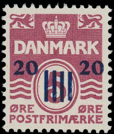 Faroe_Islands_1941_5ore_Surcharge20_Genuine