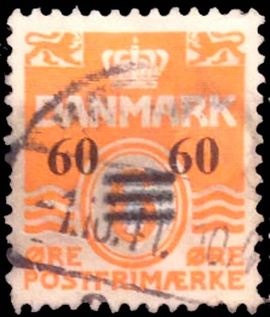 Faroe_Islands_1941_6ore_Surcharge60_Forgery