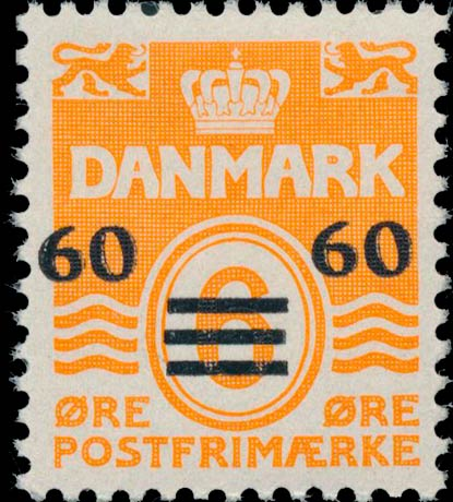 Faroe_Islands_1941_6ore_Surcharge60_Genuine