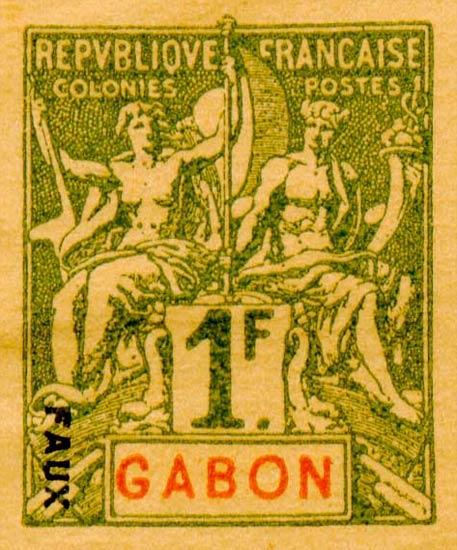 Gabon_1892_1f_Hirschburger_Forgery