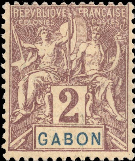 Gabon_1894_2c_Genuine