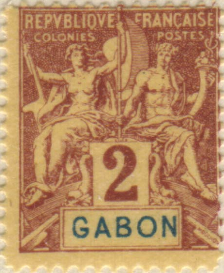 Gabon_1894_2c_Hirschburger_Forgery