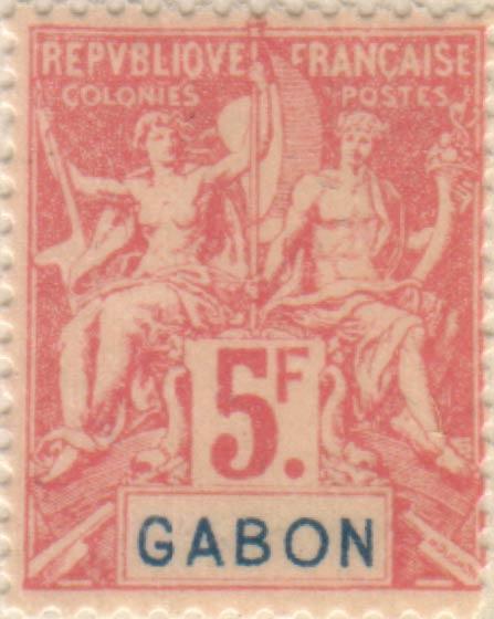 Gabon_1894_5f_Hirschburger_Forgery