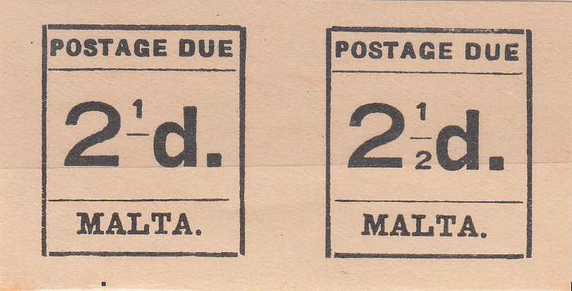 Malta_Postage_Due_1925_2.5d_Fogeries