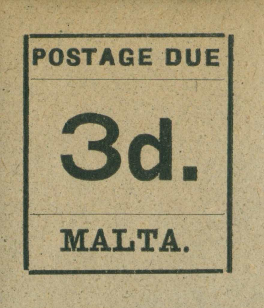 Malta_Postage_Due_1925_3d_Genuine