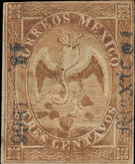 Mexico_1865_Tres_Centavos_Genuine