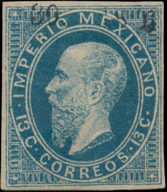 Mexico_1866_13c_Genuine