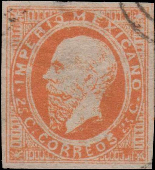 Mexico_1866_25c_Forgery