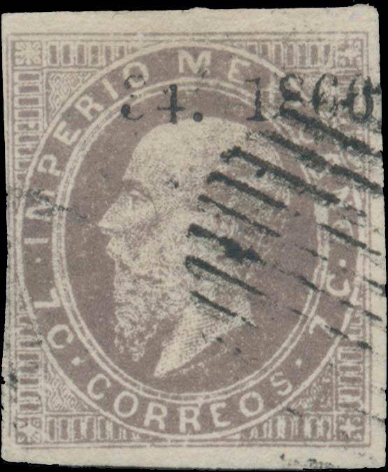 Mexico_1866_7c_Genuine