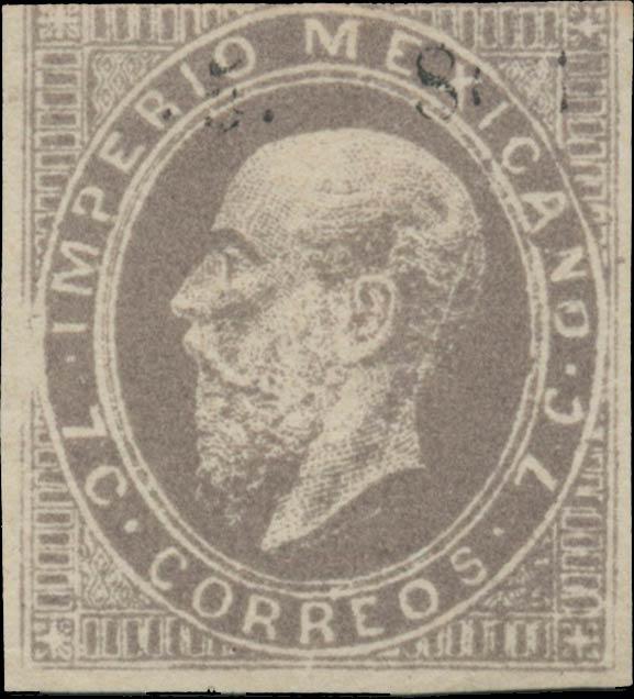 Mexico_1866_7c_III_Genuine