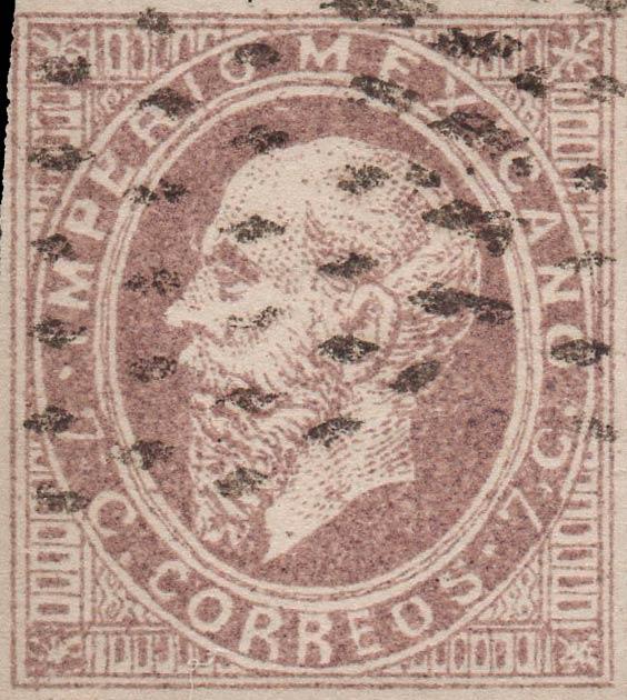 Mexico_1866_7c_Spiro_Forgery