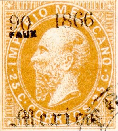 Mexico_1866_25c_Fournier_Forgery