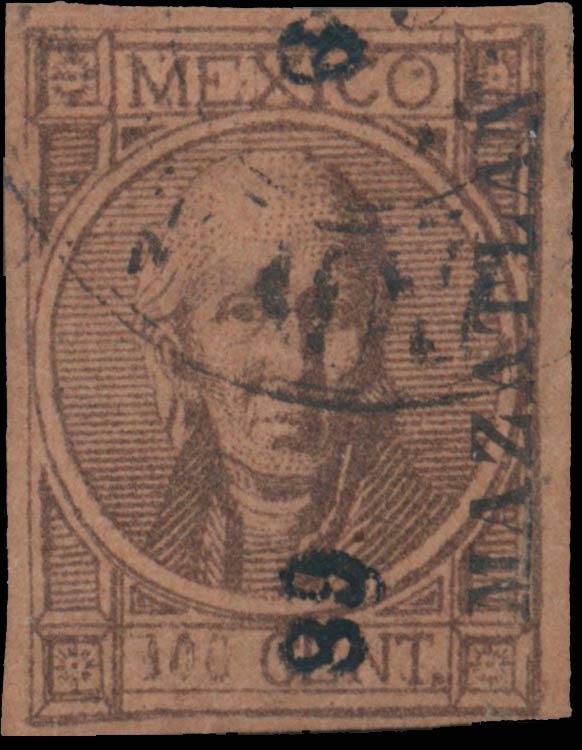 Mexico_1868_Hidalgo_100c_Genuine