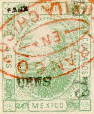 Mexico_1872_6c_Fournier_Forgery