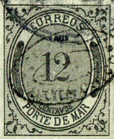 Mexico_1875_Porte_De_Mar_12c_Fournier_Forgery