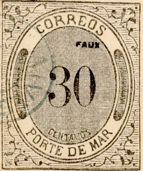 Mexico_1875_Porte_De_Mar_30c_Fournier_Forgery