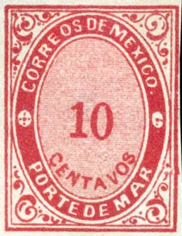 Mexico_1879_Porte_De_Mar_10c_Forgery