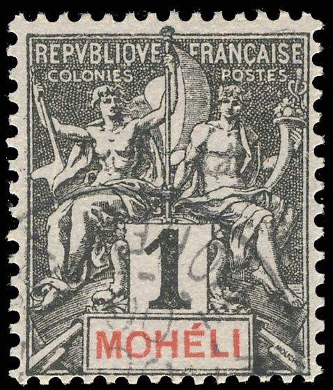 Moheli_1892_1c_Genuine