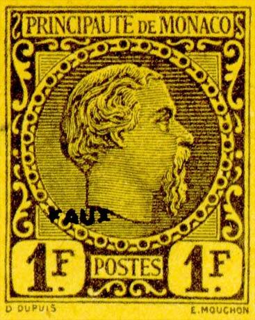 Monaco_1885_1F_Fournier_Forgery