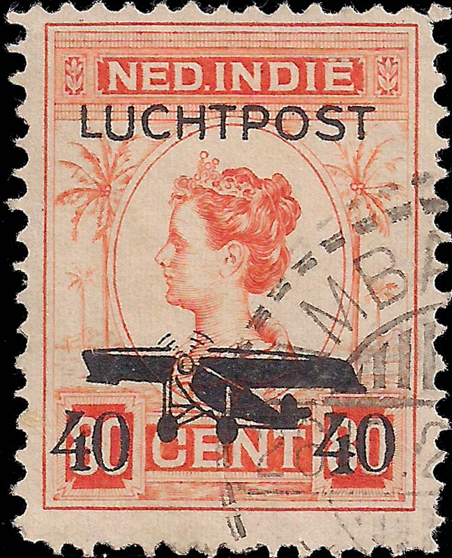 Netherlands_Indies_1928_Airmail_40on80cents_Genuine