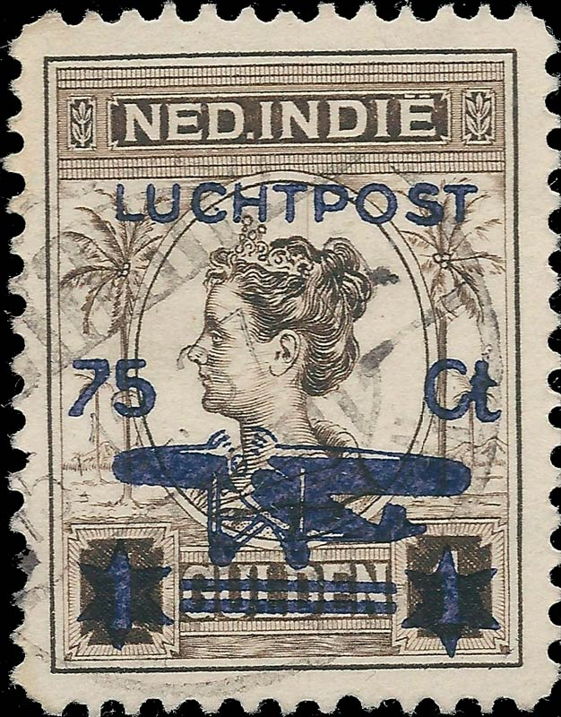 Netherlands_Indies_1928_Airmail_75on1gulden_Forgery