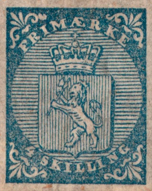 Norway_1855_Coat-of-Arms_4sk_Genuine