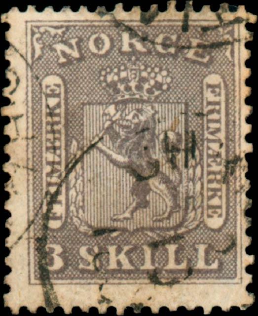 Norway_1865_Lion_3sk_Genuine