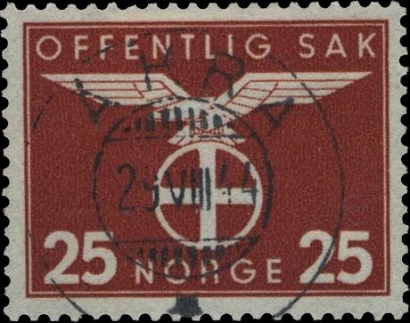Norway_1942_Official_25ore_Postmark_Forgery