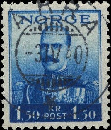 Norway_Haakon1.5kr_Akra_Forged_Postmark