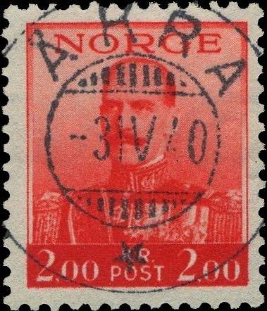 Norway_Haakon2kr_Akra_Forged_Postmark