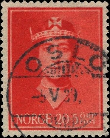 Norway_Maud20-5ore_Oslo_Forged_Postmark1