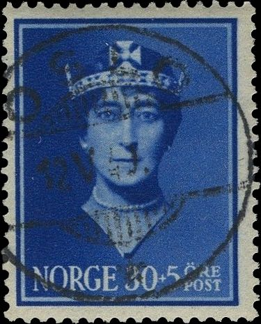 Norway_Maud30-5ore_Oslo_Forged_Postmark1