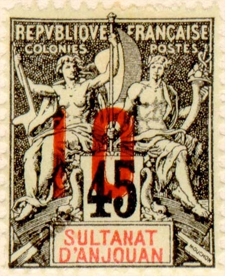 Anjouan_10-45c_Fournier_Forgery
