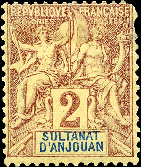 Anjouan_1892_2c_Genuine