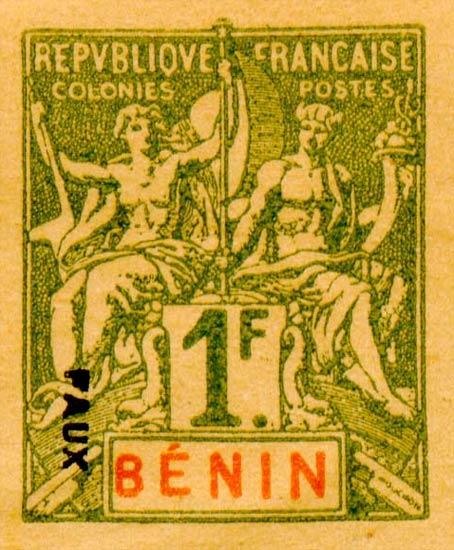 Benin_1892_1f_Fournier_Forgery