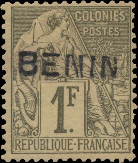 Benin_1892_1f_Genuine