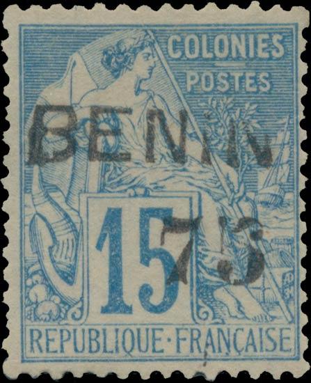 Benin_1892_75c-15c_Genuine