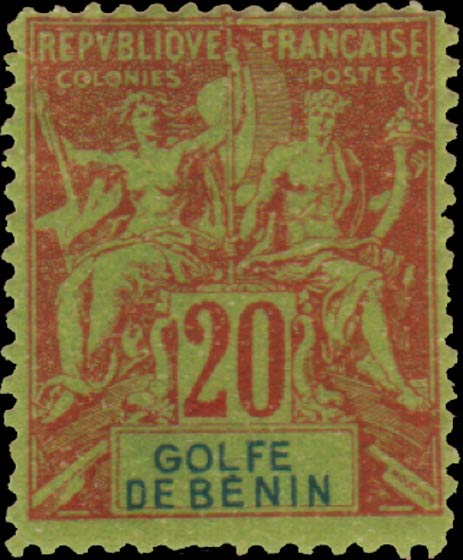 Benin_1893_Allegory_20c_GOLFE_DE_BENIN_Hirschburger_Forgery