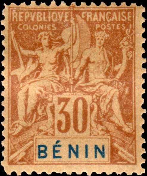 Benin_1894_30c_Hirschburger_Forgery