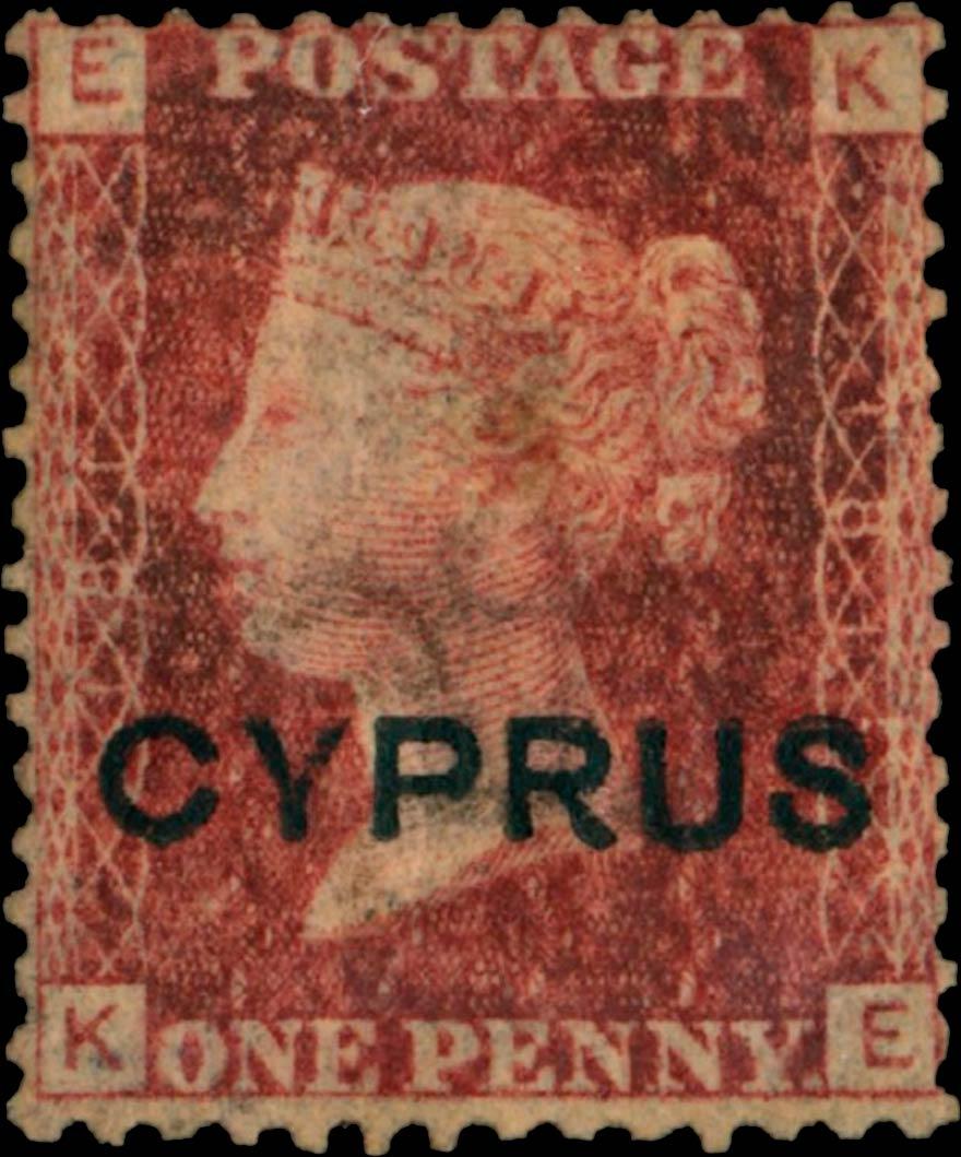 Cyprus_1880_QV_1d_plate181_Genuine