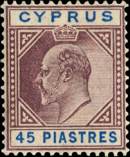 Cyprus_Edward_45piastres_Genuine
